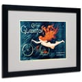 Trademark Fine Art Georges Massias 'Cycles Gladiator' Matted Art Black Frame 16x20 Inches