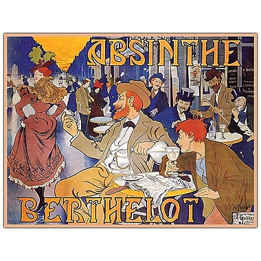 Trademark Fine Art Absinthe Berthelot by Thiriet-Ready to Hang 19x14 Canvas Art