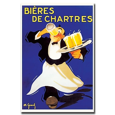 Trademark Fine Art Bieres de Chartres-Gallery Wrapped Art Ready to Hang
