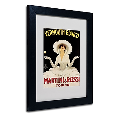 Trademark Fine Art Marcello Dudovich 'Vermouth Bianco Martini & Rossi' Black Frame 11x14 Inches