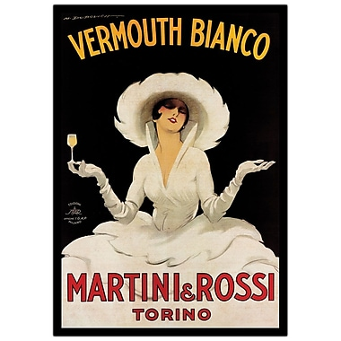 Trademark Fine Art Vermouth Bianco Martini & Rossi by Marcello Dudovich
