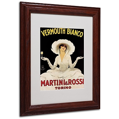 Marcello Dudovich 'Vermouth Bianco Martini & Rossi' Framed - 11x14 Inches - Wood Frame