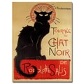 Trademark Fine Art Theophile A. Steinlen 'Tournee du Chat Noir' Canvas Art 14x19 Inches