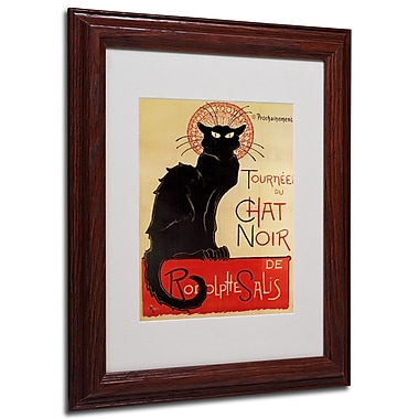Theophile Steinlen 'Tournee du Chat Noir' Framed Matted Art - 11x14 Inches - Wood Frame