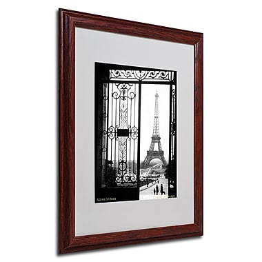 Sally Gall 'Views of Paris' Framed Matted Art - 16x20 Inches - Wood Frame