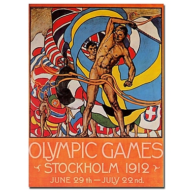 Trademark Fine Art Olle Hjortzberg 'Olympic Games Stockholm' Canvas Art