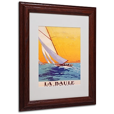 Charles Allo 'La Baule' Matted Framed Art - 11x14 Inches - Wood Frame