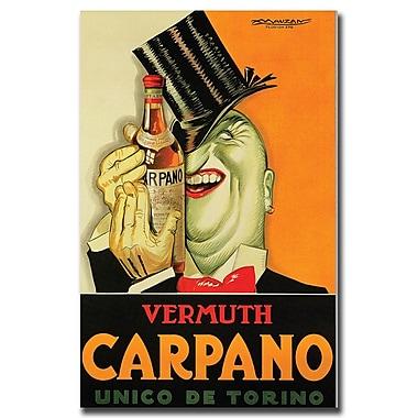 Trademark Fine Art Carpano by Achille Mauzan-Gallery Wrapped Canvas Art