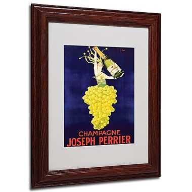 Champagne Joseph Perrier' Framed Matted Art - 11x14 Inches - Wood Frame