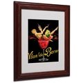 Vlan du Berni' Matted Framed Art - 11x14 Inches - Wood Frame