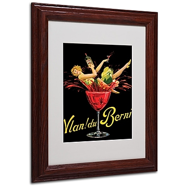 Vlan du Berni' Matted Framed Art - 11x14 Inches - Wood Frame