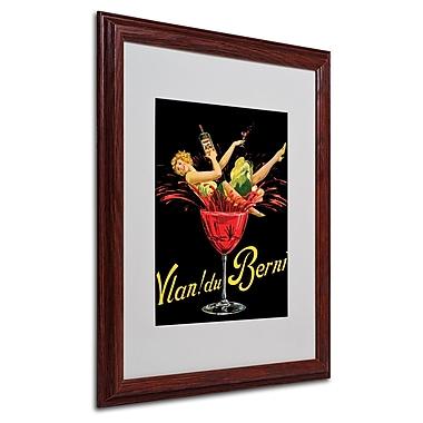 Vlan du Berni' Matted Framed Art - 16x20 Inches - Wood Frame