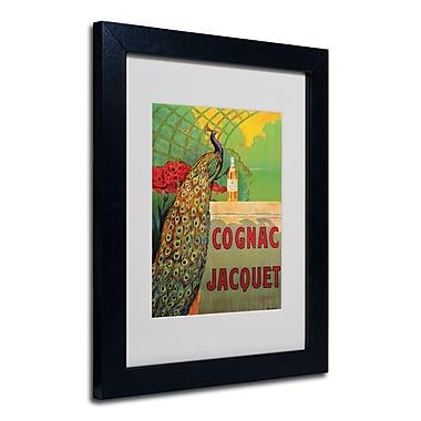 Trademark Fine Art Camille Bouchet 'Cognac Jacquet' Matted Art Black Frame 11x14 Inches