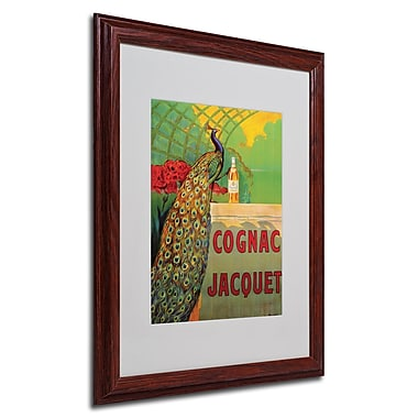 Camille Bouchet 'Cognac Jacquet' Framed Matted Art - 16x20 Inches - Wood Frame