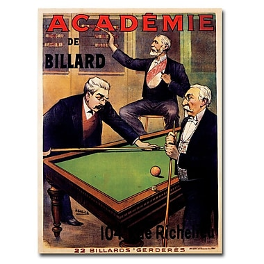 Trademark Fine Art Academie Billiards Canvas Art Ready to Hang