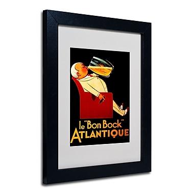 Trademark Fine Art 'Bon Bock' Matted Art Black Frame 11x14 Inches