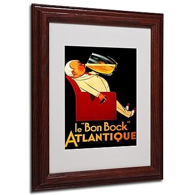 Bon Bock' Framed Matted Art - 11x14 Inches - Wood Frame