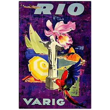 Trademark Fine Art Rio Varig Canvas Art Ready to Hang