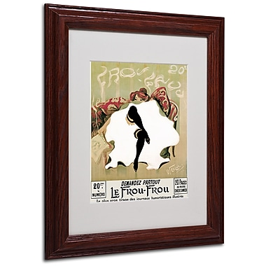 Lucien Henri Weiluc 'Le Frou Frou' Matted Framed Art - 11x14 Inches - Wood Frame