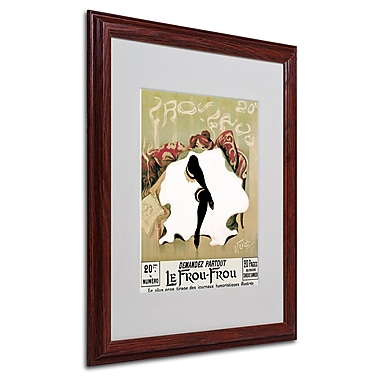 Lucien Henri Weiluc 'Le Frou Frou' Matted Framed Art - 16x20 Inches - Wood Frame