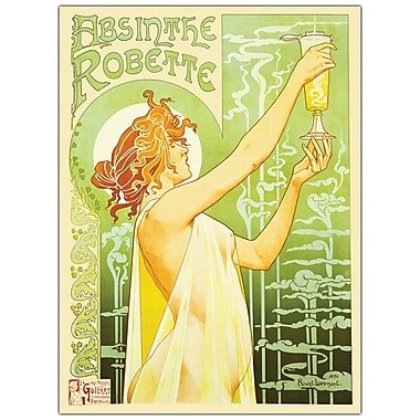 Trademark Fine Art Privat Livemont 'Absinteh Robette' Canvas Art Ready to Hang 24x32 Inches