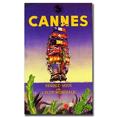 Trademark Fine Art Cannes by M. Pecnard-Gallery Wrapped Canvas Art