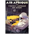 Trademark Fine Art Air Afrique by A.Roquin-Gallery Wrapped Canvas Art 26x32 Inches
