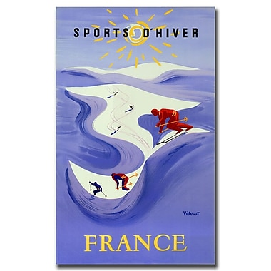 Trademark Fine Art Sports D'Hiver by Bernard Villemont-Gallery Wrapped