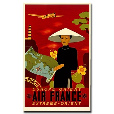 Trademark Fine Art Air France Orient Express-Gallery Wrapped Canvas Art