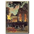 Trademark Fine Art Vichy by Louis Tauzin-Gallery Wrapped Canvas Art 22x32 Inches