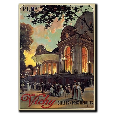 Trademark Fine Art Vichy by Louis Tauzin-Gallery Wrapped Canvas Art
