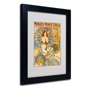 Trademark Fine Art Alphonse Mucha 'Monaco-Monte Carlo' Matted Art Black Frame 11x14 Inches