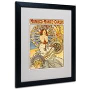 Trademark Fine Art Alphonse Mucha 'Monaco-Monte Carlo' Matted Art Black Frame 16x20 Inches