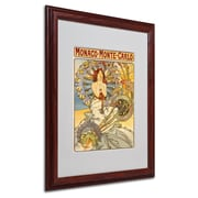 Alphonse Mucha 'Monaco-Monte Carlo' Matted Framed Art - 16x20 Inches - Wood Frame