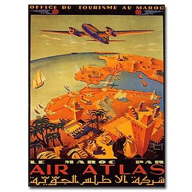 Trademark Fine Art Le Maroc Par Air Atlas by Hainaut-20x32 Ready to Hang Art