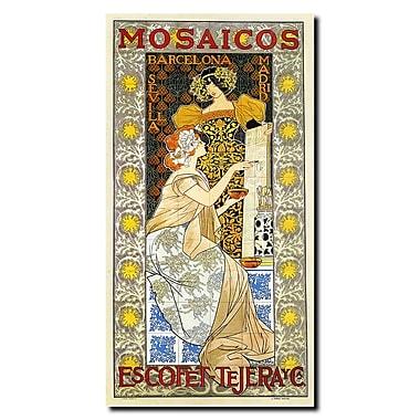 Trademark Fine Art Mosaicos Escofet-Tejera by Alexandre de Riquer-Canvas