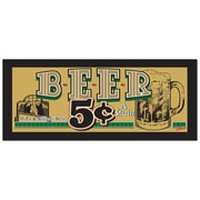 Trademark Fine Art Beer 5 Cents by Ayr*Line-Ready to Hang Art 10x24 Inches