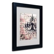 Trademark Fine Art Working Girls Design 'Chandelier' Matted Art Black Frame 11x14 Inches