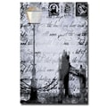Trademark Fine Art Working Girls Design 'Lamp Postpaper' Canvas Art