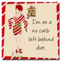 Trademark Fine Art Working Girls Design 'No Carb Left Behind' Canvas Art