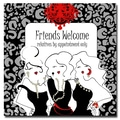 Trademark Fine Art Working Girls Design 'Friends Welcome' Canvas Art