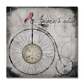 Trademark Fine Art Working Girl Design 'Amore a Velo' Canvas Art