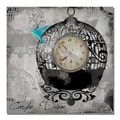 Trademark Fine Art Working Girl Design 'Round Bird Cage' Canvas Art