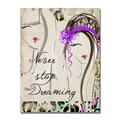 Trademark Fine Art Working Girl Design 'Dreaming' Canvas Art