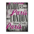 Trademark Fine Art Working Girl Design 'London' Canvas Art