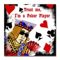 Trademark Fine Art Working Girl Design 'Poker Player' Canvas Art