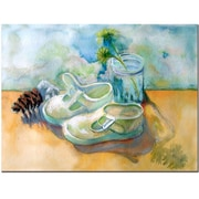 Trademark Fine Art Wendra 'Barefoot' Canvas Art 24x32 Inches