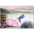 Trademark Fine Art Wendra 'Hummingbird's Joy' Canvas Art Ready to Hang 24x32 Inches