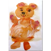 Trademark Fine Art Softy Bear by Wendra-Canvas Ready to Hang 16x24 Inches