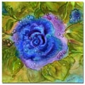 Trademark Fine Art Wendra 'Blue Rose' Canvas Art 35x35 Inches